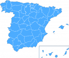 Map of the Iberian Peninsula